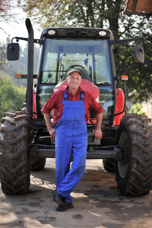Boer voor tractor