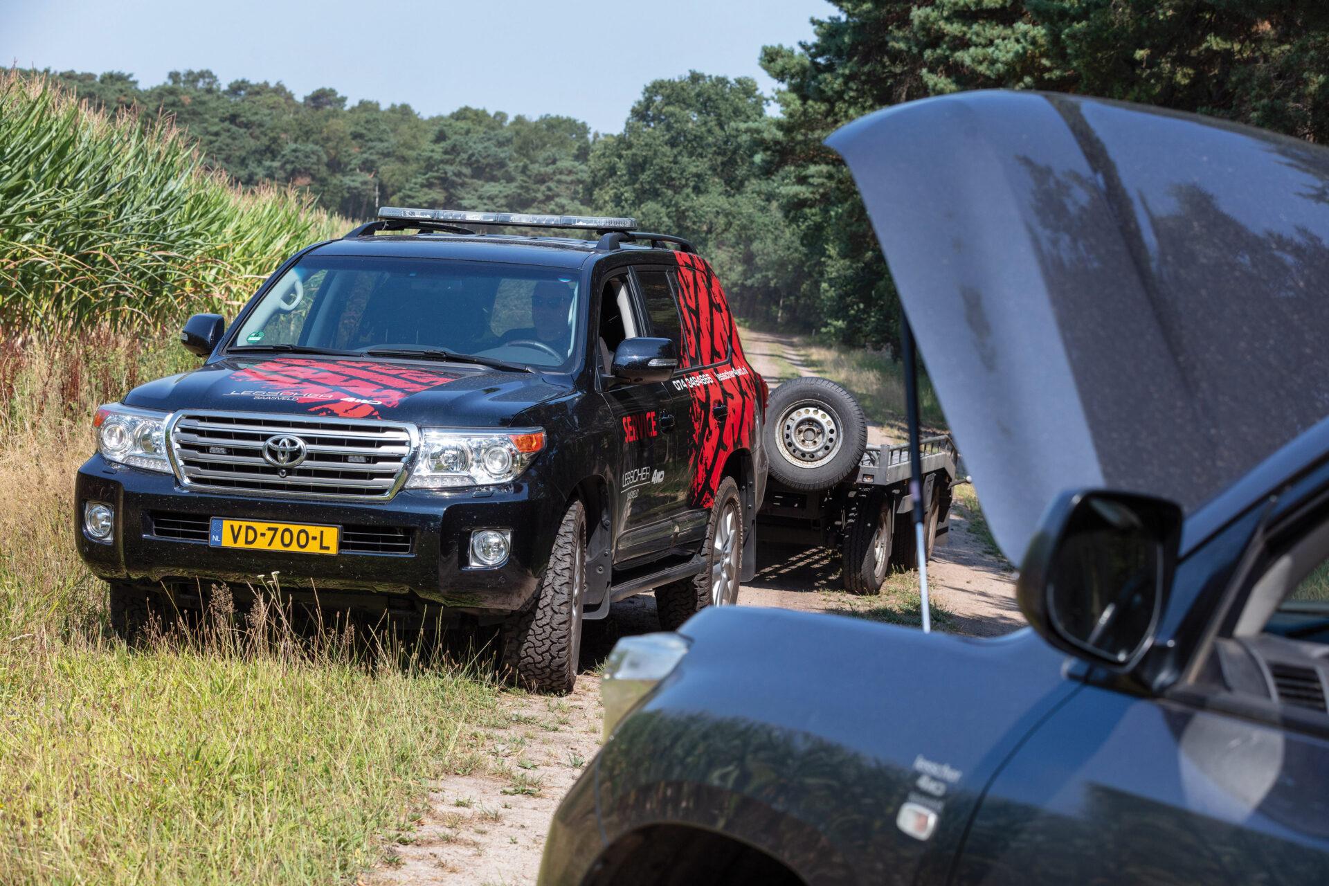 Op de dam bij Lesscher 4WD