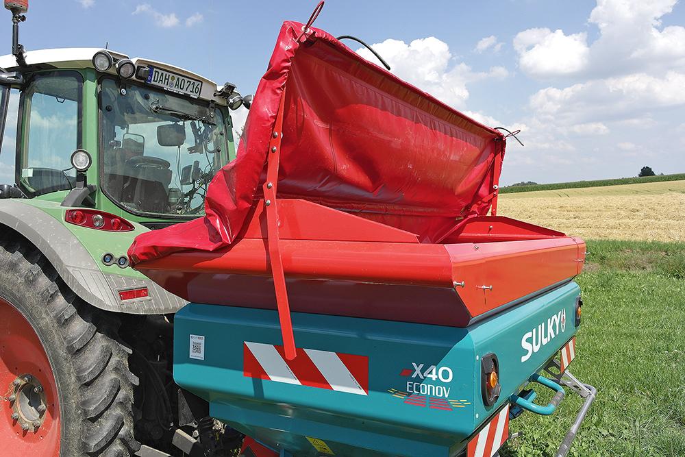 Duurtest van de Sulky X40 mestverspreider Agri Trader (11)