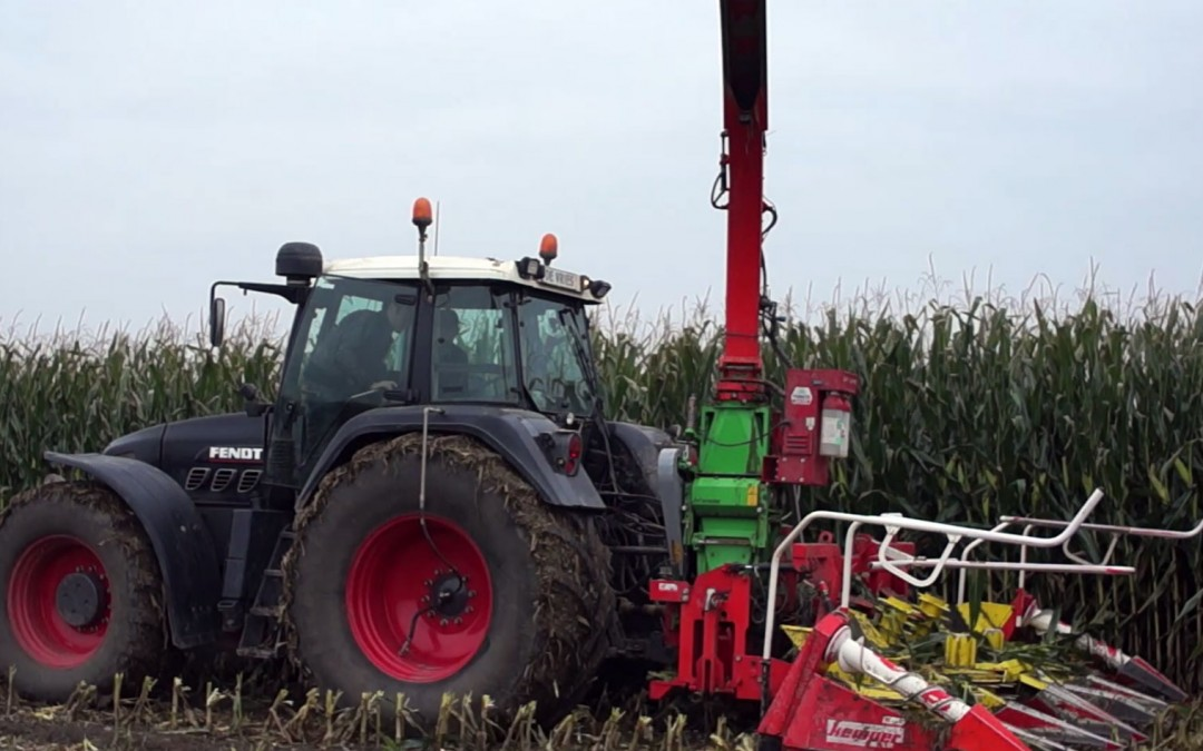 Maïs hakselen met een Fendt tractor in de achteruit! AgriTraderTV #9