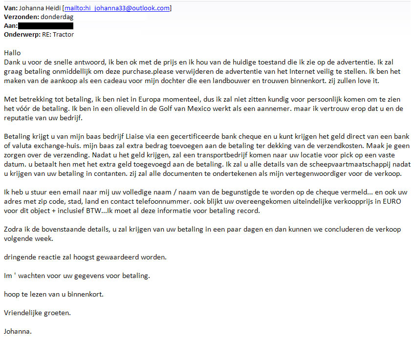 Fake-koper-email