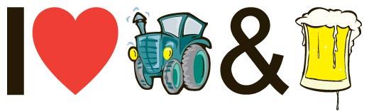 Bestel I love Tractors & Bier kleding
