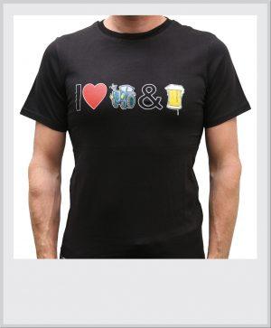 T-shirt-zwart-I-love-tractors-bier-vrijstaand