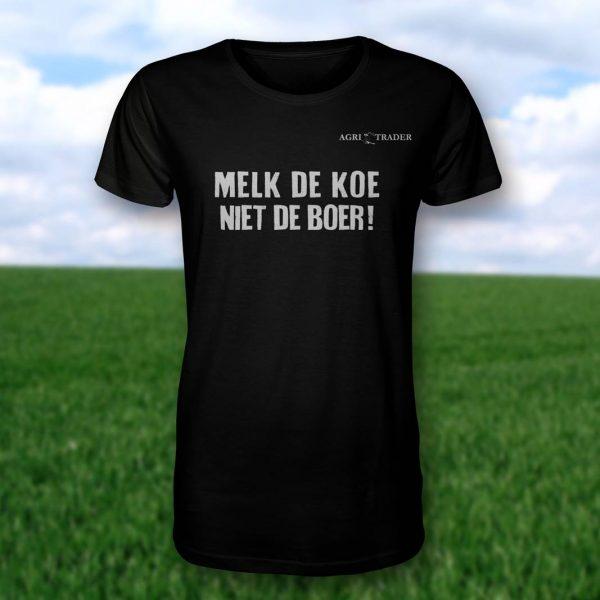T-shirt zwart Melk de Koe Niet de Boer