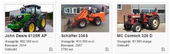 homepage weergave aanpassing agri Trader