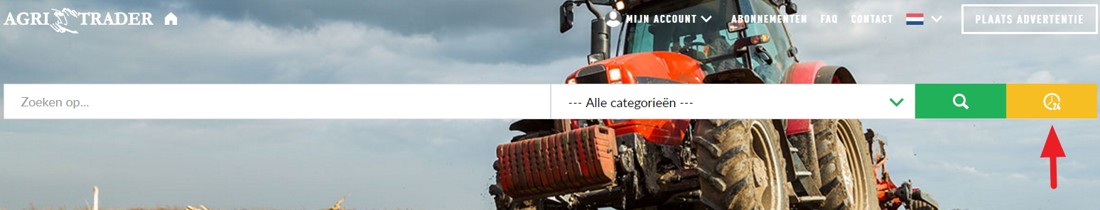 recent ingevoerde machines zoeken op Agri Trader